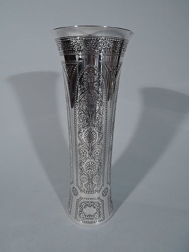 Distinctive Edwardian Sterling Silver Vase by Tiffany & Co.