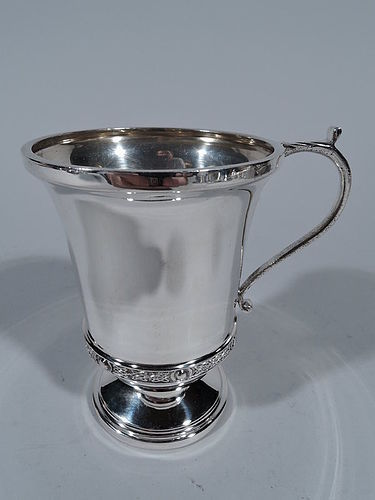 Traditional English Sterling Silver Footed Baby Cup
