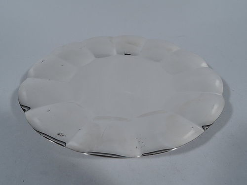 Tiffany American Modern Sterling Silver Footed Petal Tray