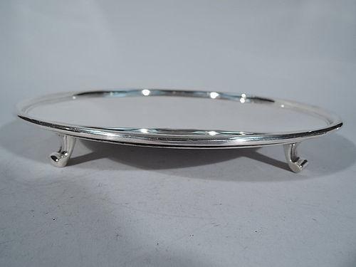 Tiffany Midcentury Modern Sterling Silver Salver Tray