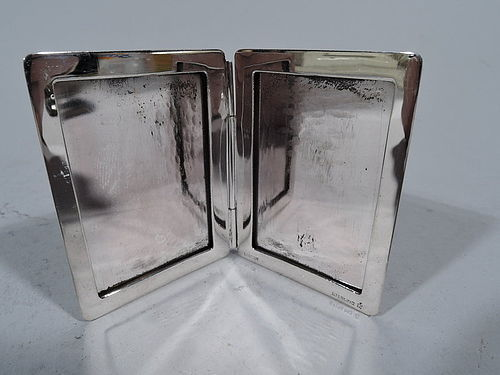 Cartier Sterling Silver Traveling Double Picture Frame