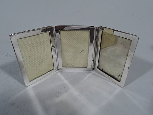 Tiffany Sterling Silver Traveling Triple Picture Frame
