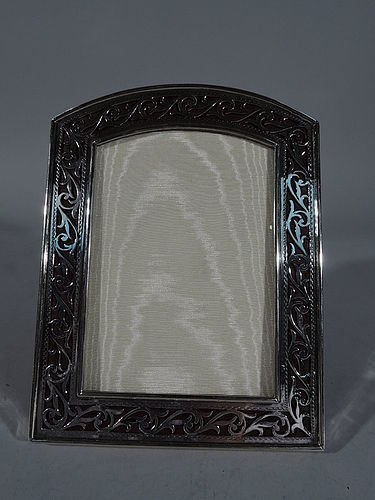 American Edwardian Sterling Silver Pierced Picture Frame