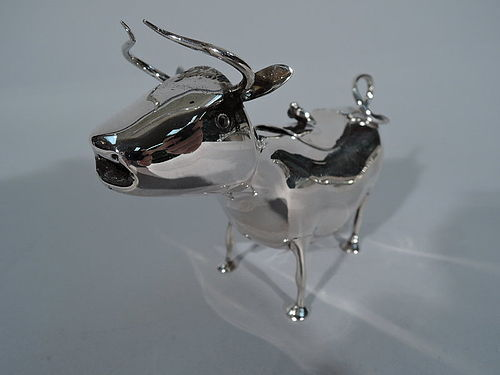 Antique Dutch Silver Cow Creamer