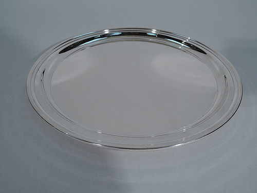 Tiffany Sterling Silver Round Serving Tray