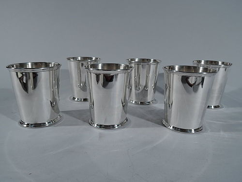 Set of 6 Kirk Sterling Silver Mint Julep Cups