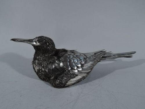 Mario Buccellati Silver Figure of Nesting Duck
