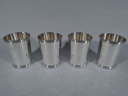 Set of 4 Cartier Sterling Silver Mint Julep Cups