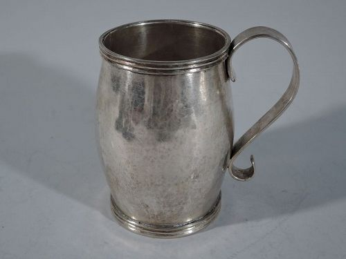 Large Antique South American Silver Mug C 1850