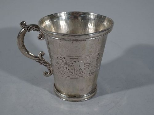 Antique South American Silver Mug C 1850