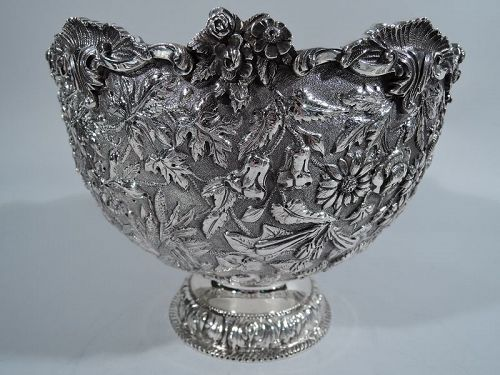 Beautiful and Heavy Sterling Silver Footed Bowl by Kirk