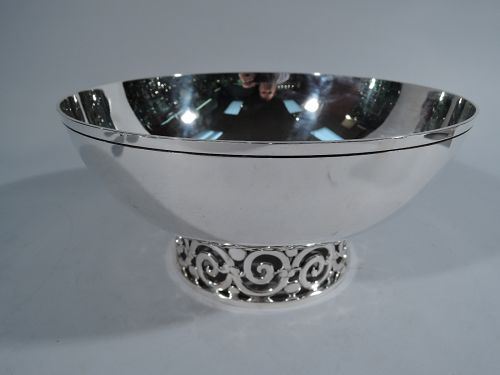 Tiffany Midcentury Modern Sterling Silver Footed Bowl