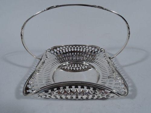 Gorham Edwardian Pierced Sterling Silver Basket 1916