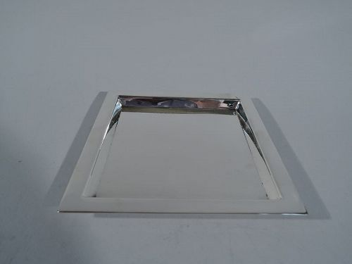 Tiffany Smart Square Sterling Silver Tray