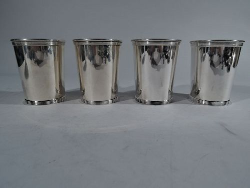 Set of 4 American Sterling Silver Classic Mint Juleps