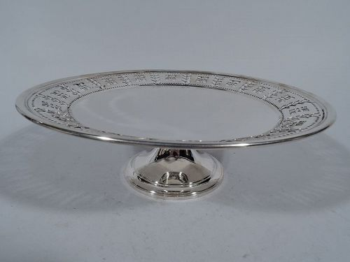 Tiffany Pierced Sterling Silver Compote