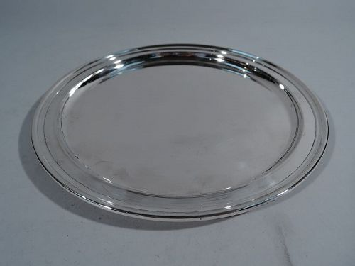 Tiffany Sterling Silver Small Round Serving Tray