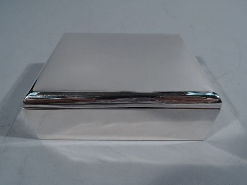 Cartier American Modern Sterling Silver Desk Box