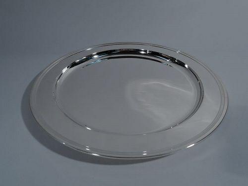 Tiffany Deep & Circular Sterling Silver Serving Tray