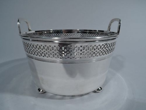 Tiffany Edwardian Pierced Sterling Silver Ice Bucket