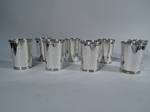 Set of 6 American Sterling Silver Mint Julep Cups by International