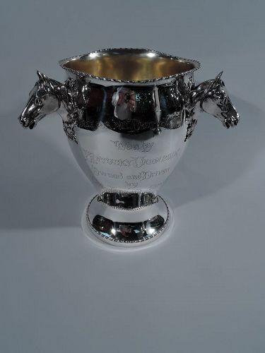 American Sterling Silver Rhode Island Horse Racing Trophy Cup
