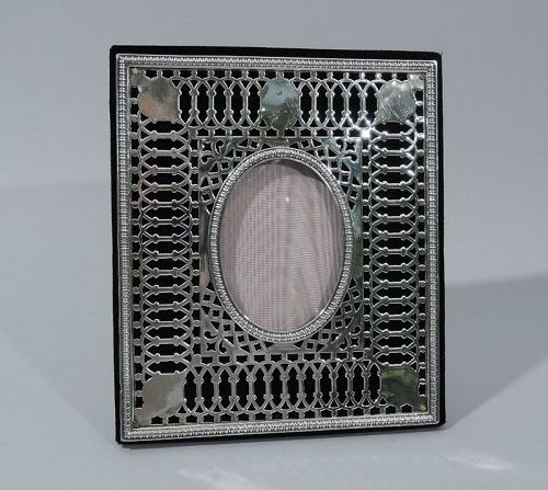 Dominick & Haff Edwardian Pierced Sterling Silver Picture Frame
