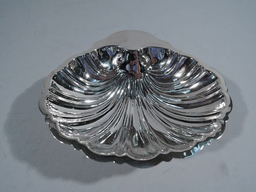 American Sterling Silver Scallop Shell Dish by New York Maker
