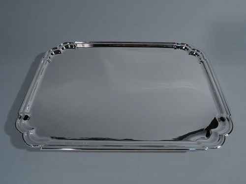 Asprey Rectangular Sterling Silver Georgian-Style Salver Tray