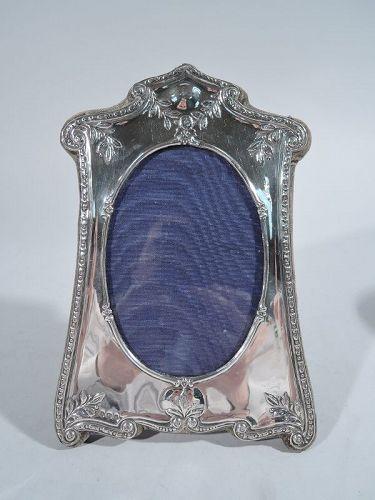 English Edwardian Art Nouveau Sterling Silver Picture Frame