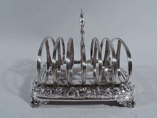 English Regency Sterling Silver Toast Rack 1826
