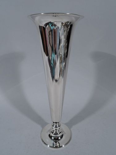 Tiffany Sterling Silver Trumpet Vase C 1922