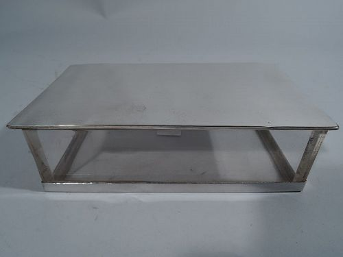 Experimental Hawkes Sterling Silver and Lucite Acrylic Box