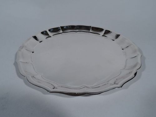 Georgian Style Sterling Silver Piecrust Tray by International
