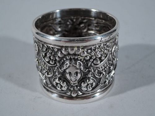 Rare Tiffany Sterling Silver Napkin Ring in Desirable Olympian Pattern