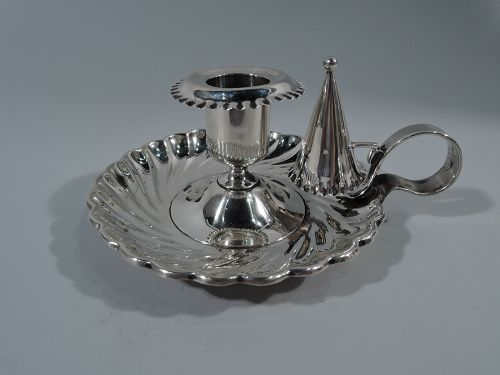 Antique Tiffany Sterling Silver Chamberstick