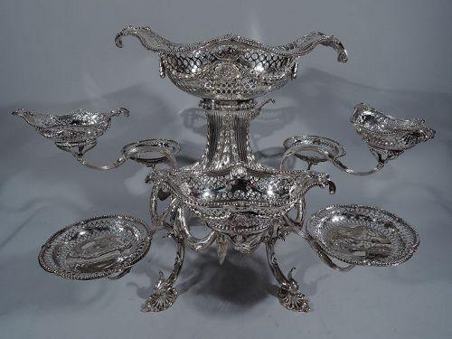 Wonderful English Georgian Sterling Silver Epergne 1771