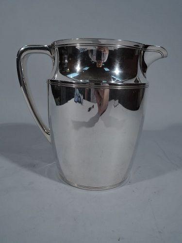 Tiffany Modern Sterling Silver Water Pitcher C 1945