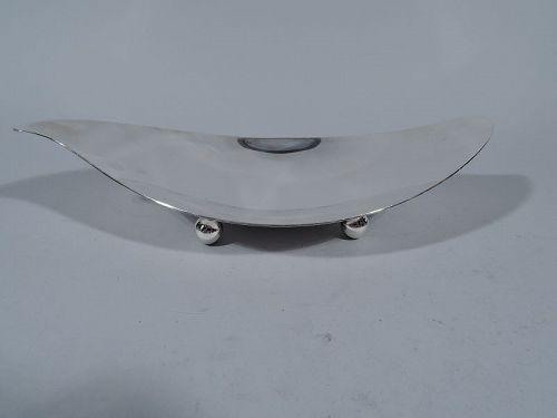 Tiffany Midcentury Modern Sterling Silver Scroll Bowl