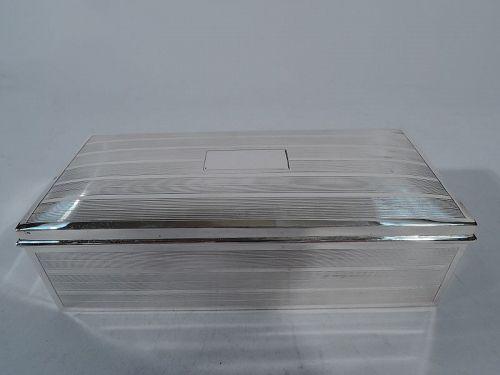 American Art Deco Sterling Silver Box