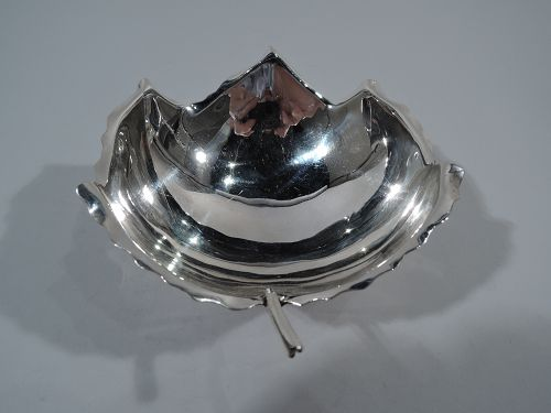 Midcentury Modern Sterling Silver Leaf Bowl by Sciarrotta