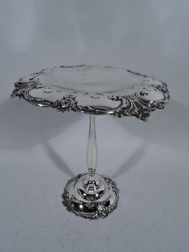 Antique Edwardian Tall Sterling Silver Compote by Tiffany