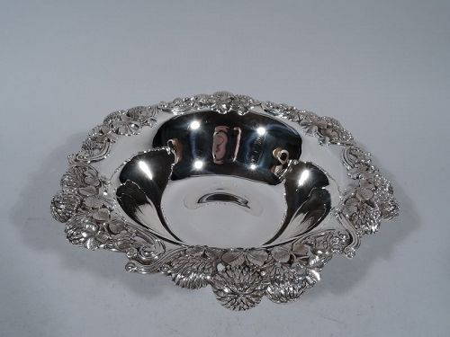 Tiffany Sterling Silver Bowl in Classic Clover Pattern C 1898
