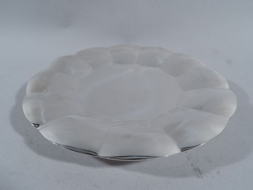 Tiffany American Midcentury Modern Sterling Silver Cake Plate