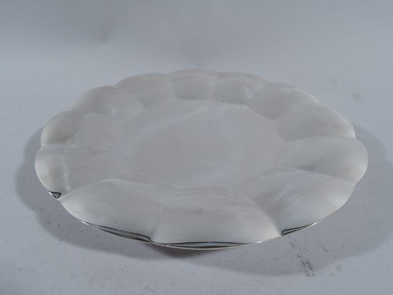 Tiffany American Midcentury Modern Sterling Silver Cake Plate