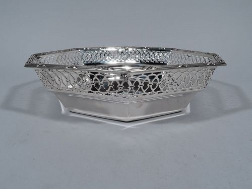 Tiffany Edwardian Pierced Sterling Silver Bowl