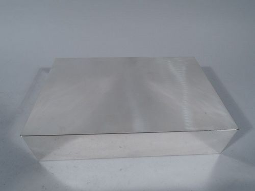 Modern Handmade Sterling Silver Desk Box by Gebelein in Boston
