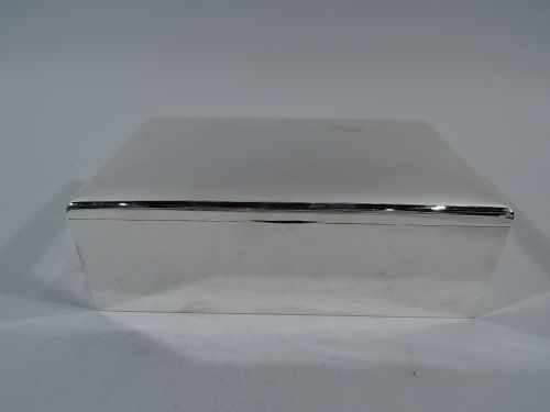 Antique American Sterling Silver Humidor by Gorham