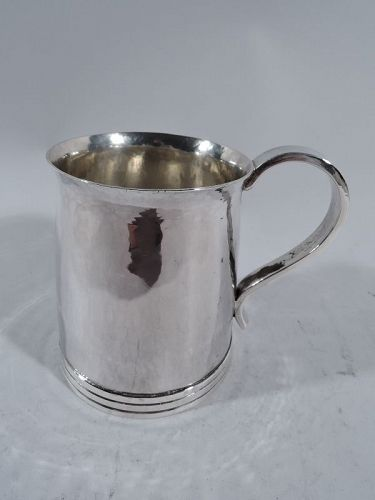 English Arts & Crafts Hand-Hammered Sterling Silver Baby Cup