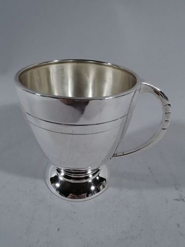 English Modern Sterling Silver Baby Cup 1960